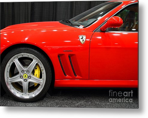 Transportation Metal Print featuring the photograph 2003 Ferrari 575m . 7d9389 by Wingsdomain Art and Photography