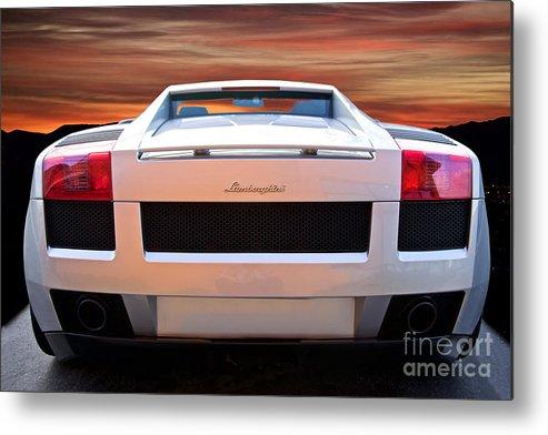 2004 Lamborghini Gallardo Rear View Metal Print By Dave Koontz