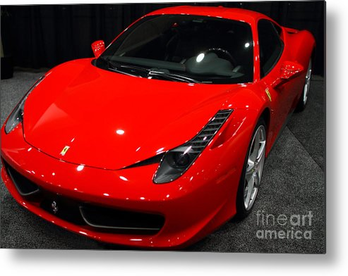 Transportation Metal Print featuring the photograph 2011 Ferrari 458 Italia . 7d9397 by Wingsdomain Art and Photography