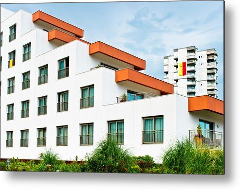 2015 Metal Print featuring the photograph Modern Building by Tom Gowanlock