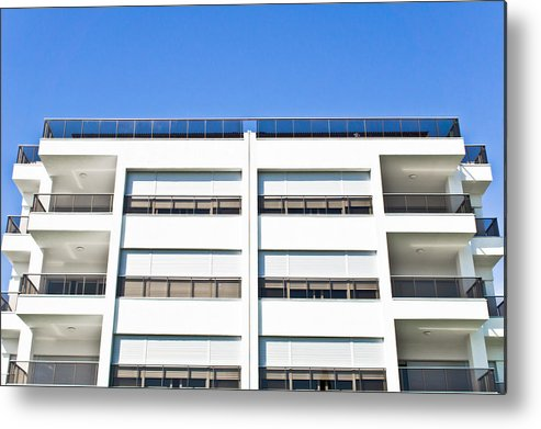 Accomodation Metal Print featuring the photograph Modern Building by Tom Gowanlock