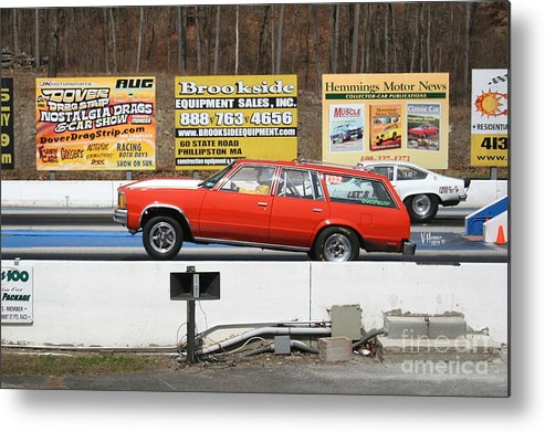 04-19-2015 Metal Print featuring the photograph 2440 04-19-2015 Lebanon Valley Dragway by Vicki Hopper
