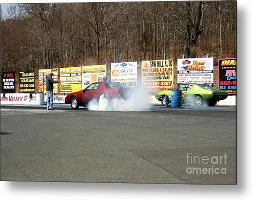 04-19-2015 Metal Print featuring the photograph 2527 04-19-2015 Lebanon Valley Dragway by Vicki Hopper