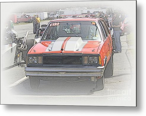 04-19-2015 Metal Print featuring the photograph 2654 04-19-2015 Lebanon Valley Dragway by Vicki Hopper