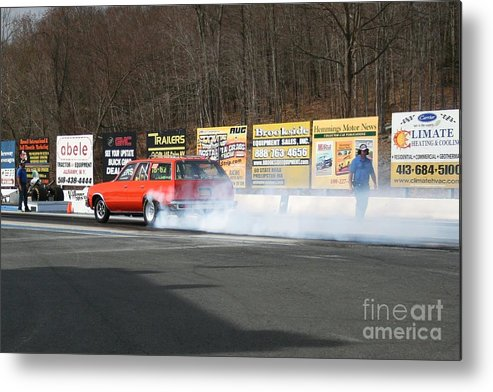 04-19-2015 Metal Print featuring the photograph 2660 04-19-2015 Lebanon Valley Dragway by Vicki Hopper