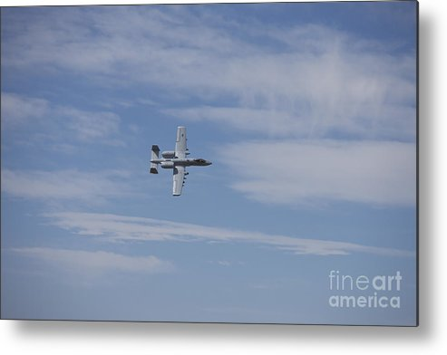 Exercise Angel Thunder Metal Print featuring the photograph A U.s. Air Force A-10 Thunderbolt II by Terry Moore