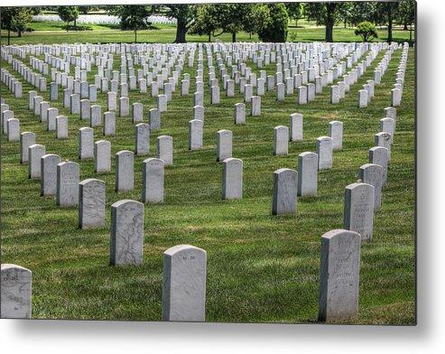Arlington Cemetery Washington Dc Usa Metal Print featuring the photograph Arlington Cemetery Washington Dc Usa by Paul James Bannerman