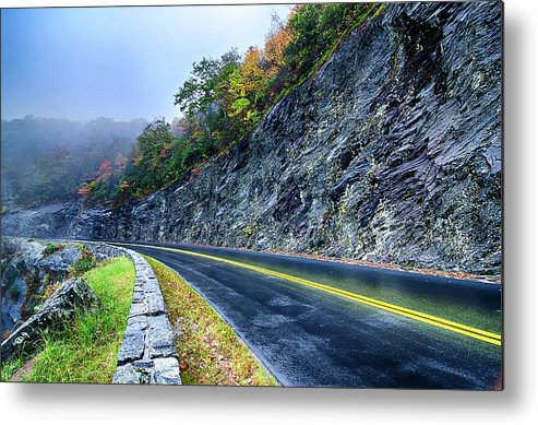 Mountain Metal Print featuring the photograph Autumn Colors In The Blue Ridge Mountains by Alex Grichenko