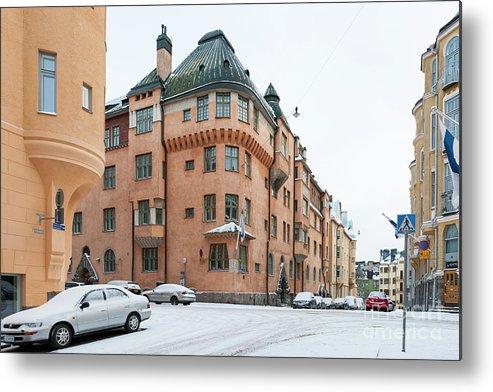 Art Nouveau Metal Print featuring the photograph Helsinki At November by Lasse Ansaharju