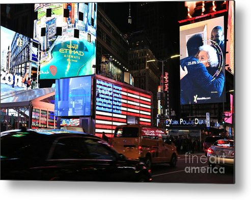 Destination Metal Print featuring the photograph New York City Times Square by Douglas Sacha