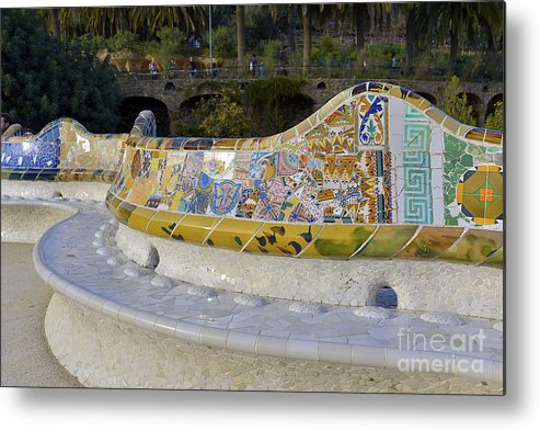 Arc Metal Print featuring the photograph Park Guell by Svetlana Sewell