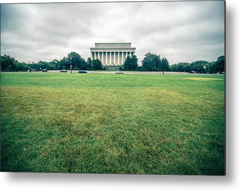 Washington Metal Print featuring the photograph Scenes Around Lincoln Memorial Washington Dc by Alex Grichenko