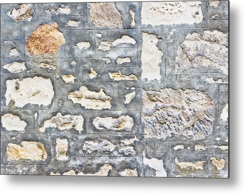 Abstract Metal Print featuring the photograph Stone Wall by Tom Gowanlock