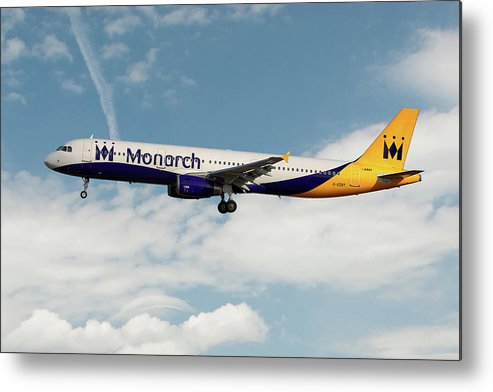 Monarch Metal Print featuring the photograph Monarch Airbus A321-231 by Smart Aviation