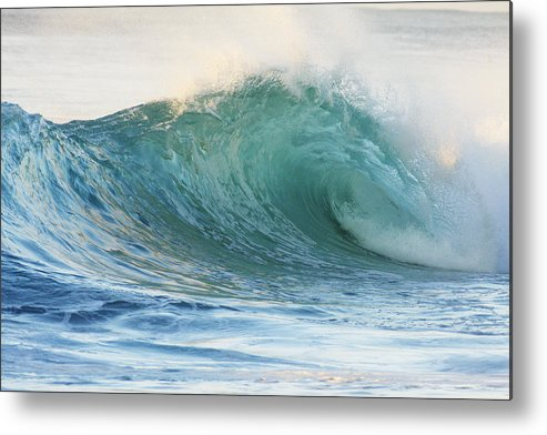 Active Metal Print featuring the photograph Beautiful Wave Breaking by Vince Cavataio - Printscapes