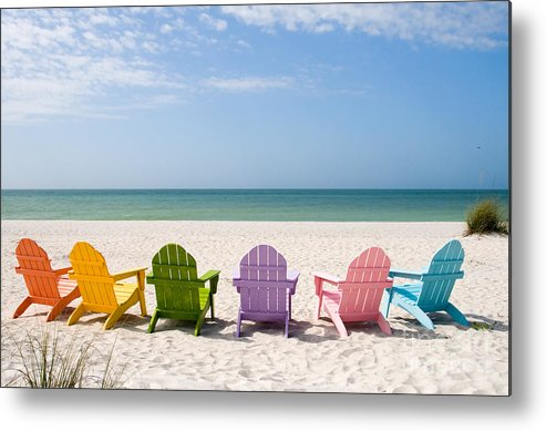 Beach Metal Print featuring the photograph Florida Sanibel Island Summer Vacation Beach by ELITE IMAGE photography By Chad McDermott