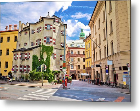 Innsbruck Metal Print featuring the photograph Historic Street Of Innsbruck View by Brch Photography
