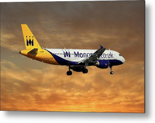 Monarch Metal Print featuring the photograph Monarch Airlines Airbus A320-214 by Smart Aviation