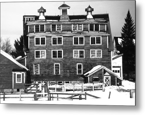 Metal Print featuring the photograph 4 Story Barn In Winter by Roger Soule