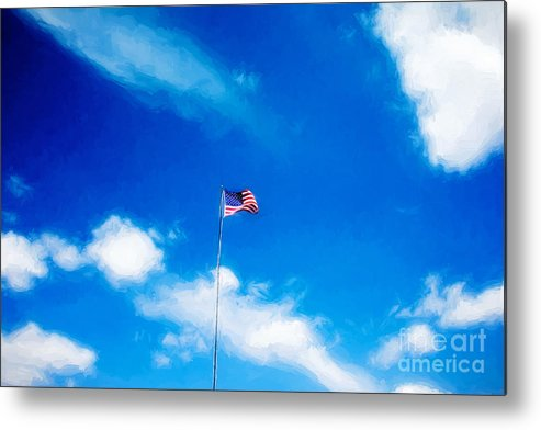 American Flag Metal Print featuring the photograph Grand Canyon Experience Series by Berta Keeney