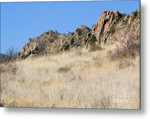 Red Rock Metal Print featuring the photograph Red Rock Canyon Open Space Park by Steve Krull