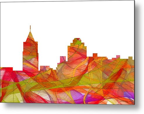 Virginia Beach Virginia Skyline Metal Print featuring the digital art Virginia Beach Virginia Skyline by Marlene Watson