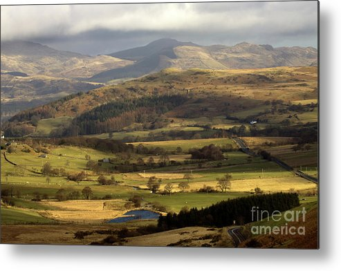 Great Britain Metal Print featuring the photograph Welsh Mountains by Angel Ciesniarska