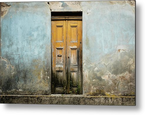 Street Metal Print featuring the photograph Door With No Number by Marco Oliveira