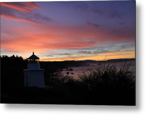 Lighthouse Metal Print featuring the photograph Lighthouse Sunrise Series by Denise Lowery