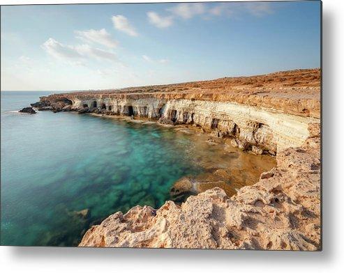 Sea Caves Metal Print featuring the photograph Sea Caves Ayia Napa - Cyprus by Joana Kruse