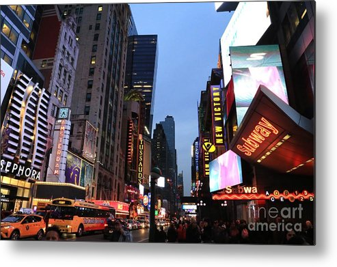 Destination Metal Print featuring the photograph Times Square by Douglas Sacha