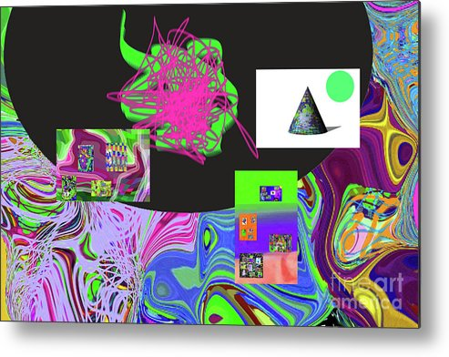 Walter Paul Bebirian Metal Print featuring the digital art 7-20-2015gabcdefghijklmnopqrtuvw by Walter Paul Bebirian