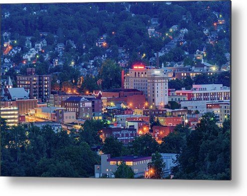 West Metal Print featuring the photograph Downtown Morgantown And West Virginia University by Cityscape Photography