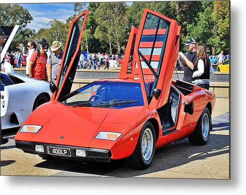 Lamborghini Metal Print featuring the photograph Lamborghini Countach Lp400 by Anthony Croke
