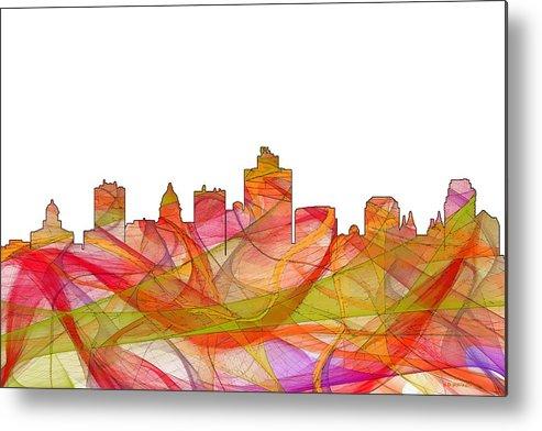 Salt Lake City Utah Skyline Metal Print featuring the digital art Salt Lake City Utah Skyline by Marlene Watson