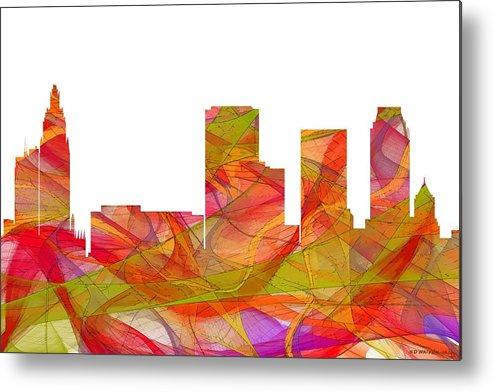 Tulsa Oklahoma Skyline Metal Print featuring the digital art Tulsa Oklahoma Skyline by Marlene Watson