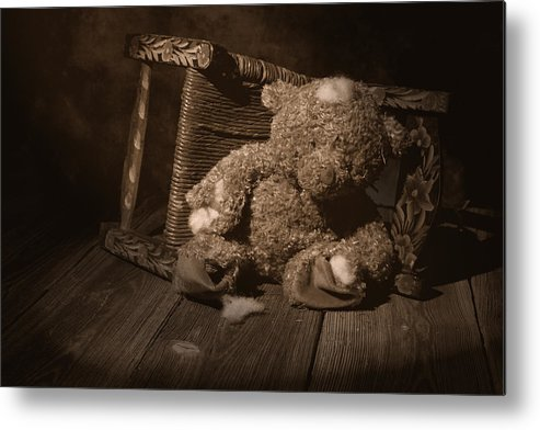Teddy Bear Metal Print featuring the photograph A Child Once Loved Me by Tom Mc Nemar