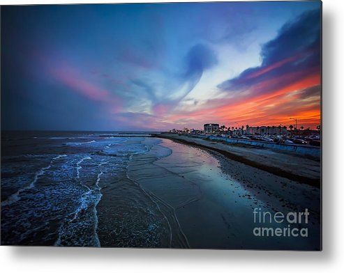 Galveston Metal Print featuring the photograph A Galveston Sunset by Katya Horner