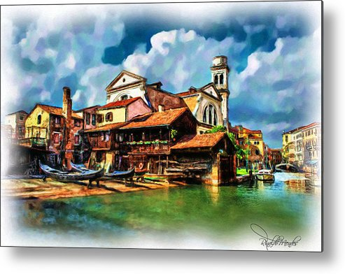 Venice Metal Print featuring the digital art A Hidden Place In Venice by Rinaldo Mendes