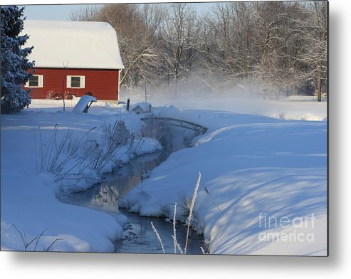 Winter Metal Print featuring the digital art A Little Slice by Cathy Beharriell