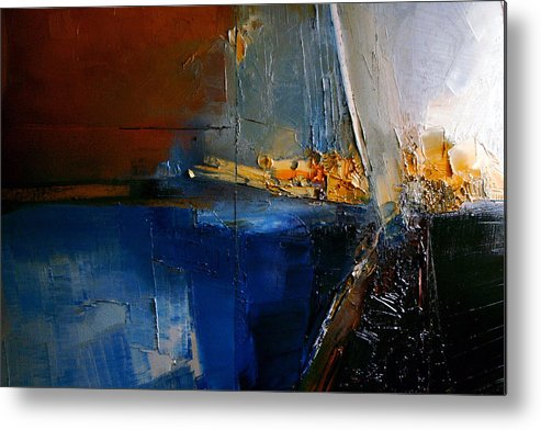 Abstract Metal Print featuring the painting A Lucid Memory by Stefan Fiedorowicz