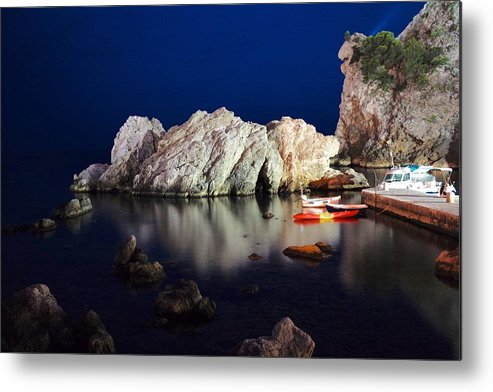 Dubrovnik Metal Print featuring the photograph A Night In Croatia by Piotr Kuzniar