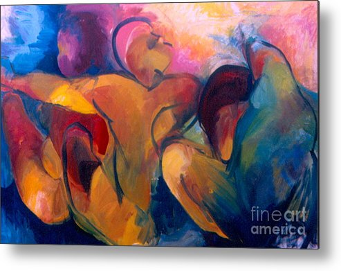 Oil Painting Metal Print featuring the painting A Passion To Be Raised by Daun Soden-Greene