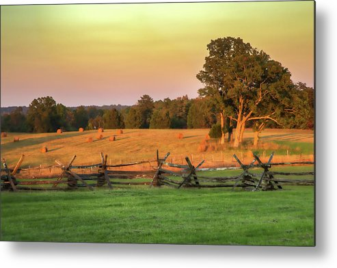 American Civil War Metal Print featuring the photograph A Peaceful Manassas by Tom Weisbrook