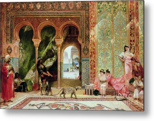 Royal Metal Print featuring the painting A Royal Palace In Morocco by Benjamin Jean Joseph Constant