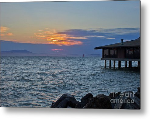 Ocean Metal Print featuring the photograph A Sunset On Berkeley by Su Thao