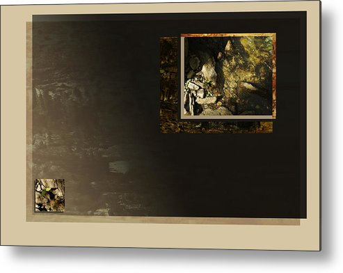 Creek.absrtact Metal Print featuring the digital art A View From Above by Gae Helton