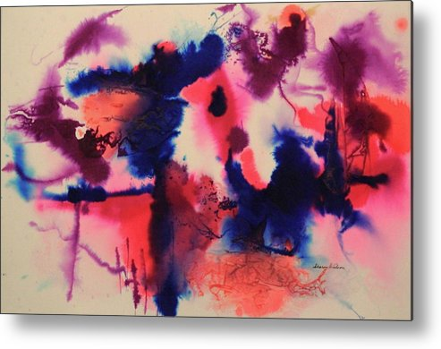 Ink Metal Print featuring the painting A Walk On The Wild Side by Sharon K Wilson