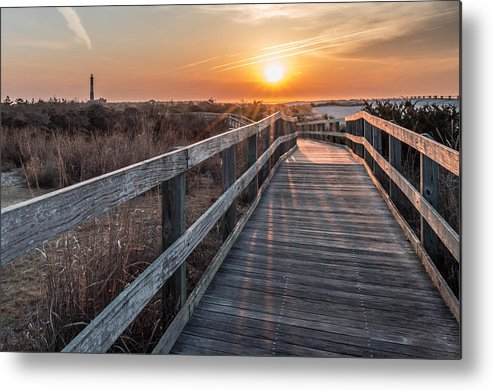 Fire Island Metal Print featuring the photograph A Walk To The Sun by Susan Knappe