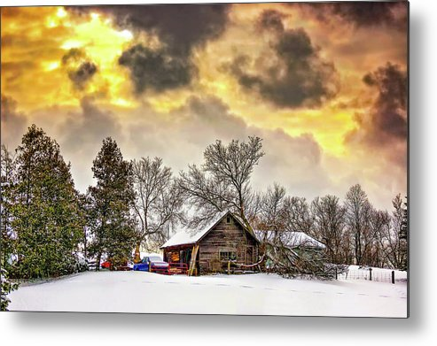Winter Metal Print featuring the photograph A Winter Sky by Steve Harrington